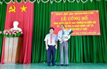 Huyện Lý Sơn, tỉnh Quảng Ngãi không còn đơn vị hành chính cấp xã