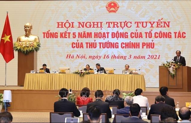 Hội nghị trực tuyến tổng kết 5 năm Tổ công tác của Thủ tướng Chính phủ