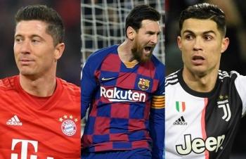 Top 10 tiền đạo có hiệu suất ghi bàn nhất châu Âu: Messi kém Ronaldo