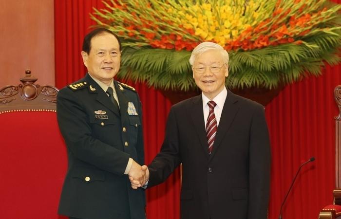Tổng Bí thư tiếp Bộ trưởng Bộ Quốc phòng Trung Quốc