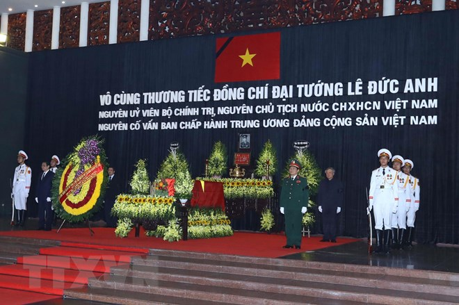 cu hanh trong the le quoc tang nguyen chu tich nuoc le duc anh