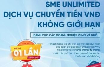 Vietinbank cung cấp dịch vụ chuyển tiền không giới hạn cho SME