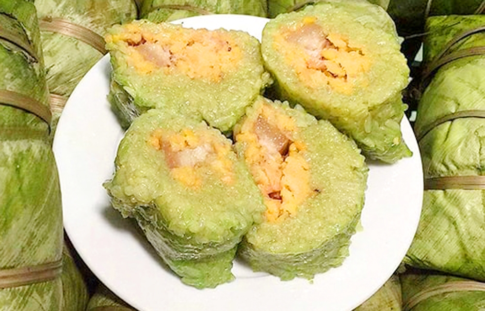 Độc đáo bánh chưng gù nếp nương của người Dao Thanh Y