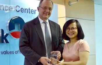 VietinBank nhận giải thưởng Ngân hàng xử lý giao dịch Thanh toán Quốc tế xuất sắc