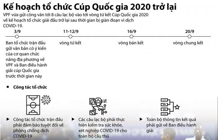 Infographics: Kế hoạch tổ chức Cúp bóng đá Quốc gia 2020