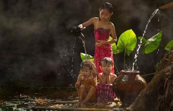 Vẻ đẹp mộc mạc của cuộc sống thường ngày ở làng quê Indonesia