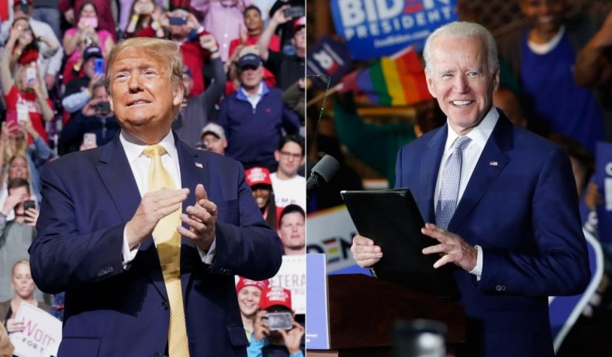 Tổng thống Mỹ Donald Trump và ứng viên đảng Dân chủ Joe Biden. Ảnh: Reuters