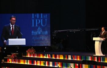 Khai mạc Đại hội đồng Liên minh nghị viện thế giới 141 tại Serbia