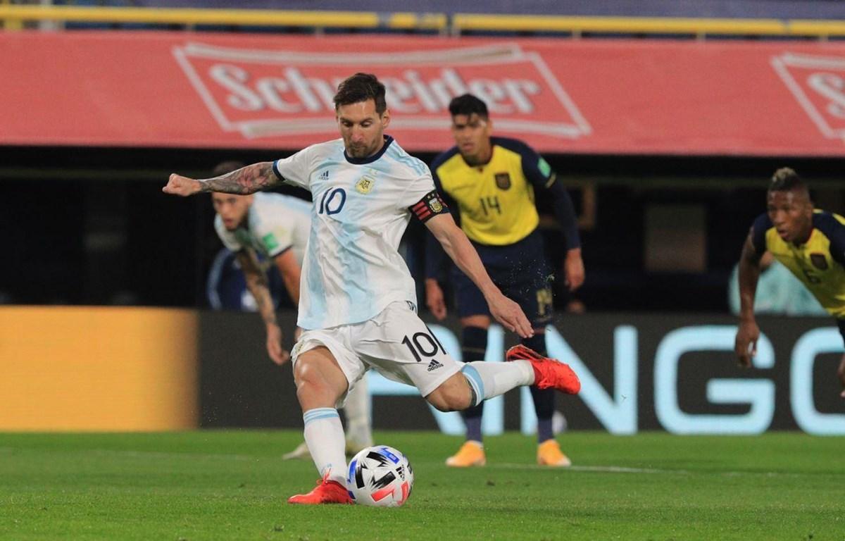Messi ghi bàn duy nhất giúp Argentina chiến thắng. (Nguồn: Getty Images)