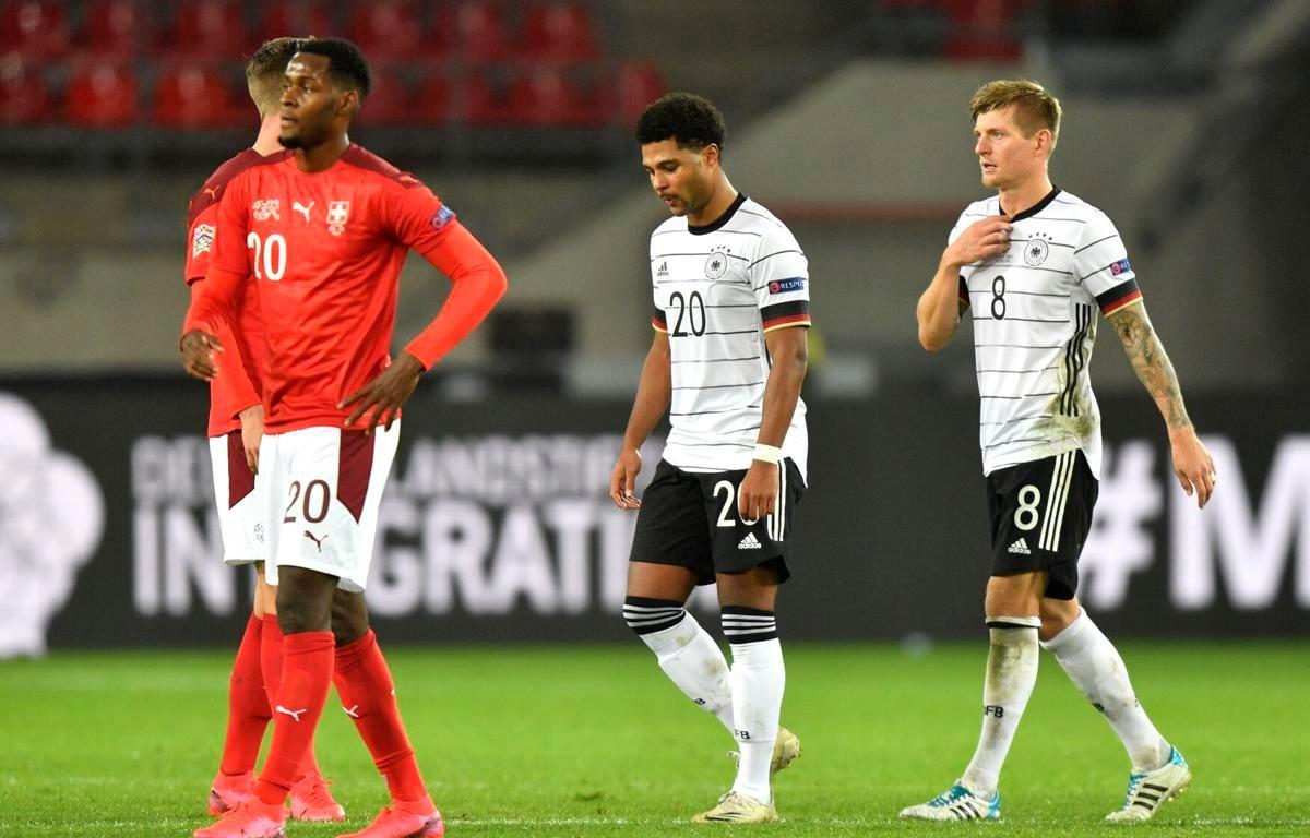 Tuyển Đức lại chia điểm với Thụy Sĩ. (Nguồn: Getty Images)