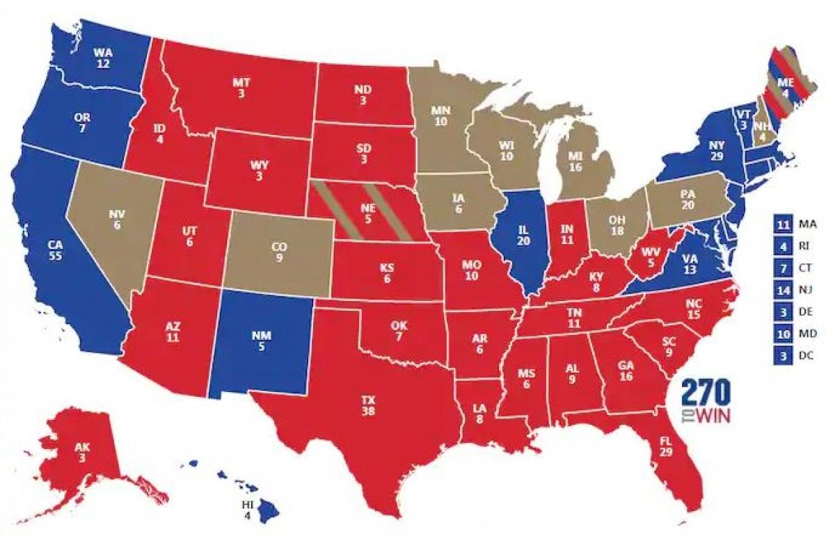 Bầu cử Mỹ 2020: 3 kịch bản ông Trump giành chiến thắng phiếu đại cử tri