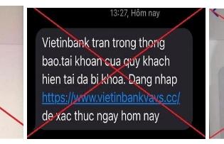 VietinBank cảnh báo những nguy cơ lừa đảo trong mùa dịch