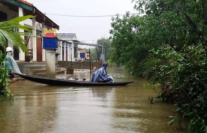 Thừa Thiên Huế: Mưa lớn diện rộng, nhiều nơi tái ngập lụt và sạt lở đất