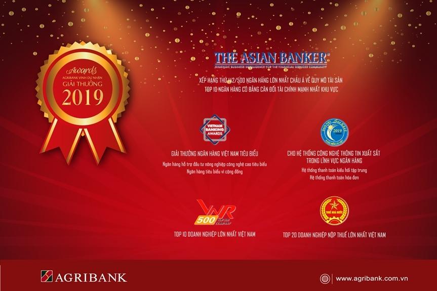 agribank gat hai nhieu giai thuong uy tin trong nam 2019