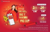 Đăng ký mới và sử dụng dịch vụ Agribank E-Mobile Banking có cơ hội trúng vàng