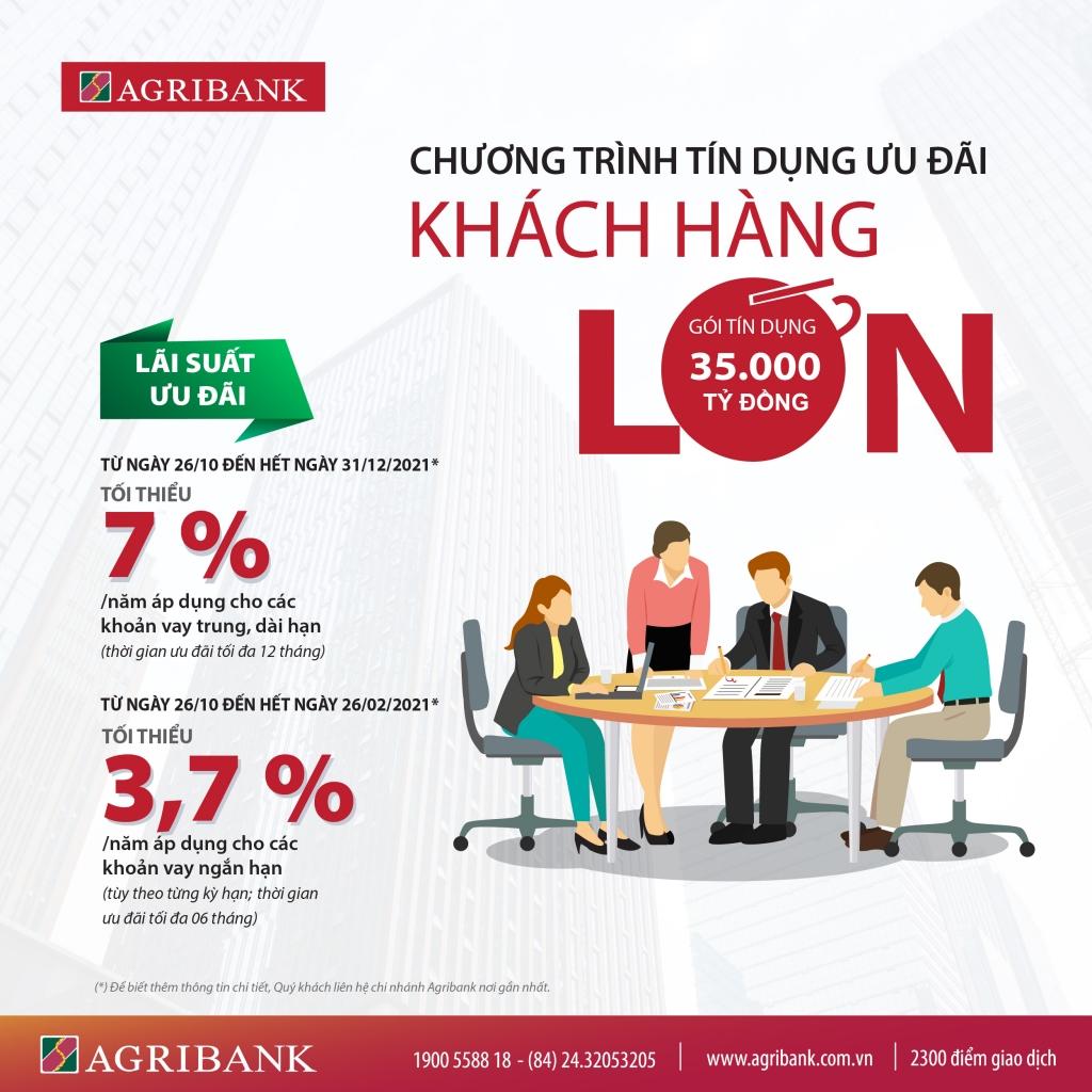 Agribank ưu tiên các gói tín dụng ưu đãi dành riêng cho doanh nghiệp