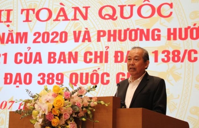 Phó Thủ tướng Trương Hòa Bình: Triệt phá tận gốc buôn lậu, đánh trúng đối tượng cầm đầu