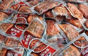 Móng Cái: Tiêu hủy gần 400 kg sản phẩm động vật nhập lậu