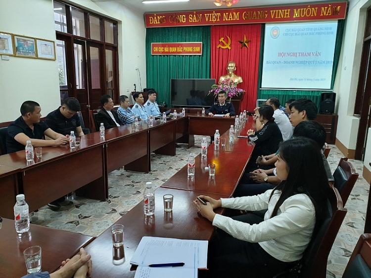 hai quan bac phong sinh to chuc tham van voi 35 doanh nghiep xnk