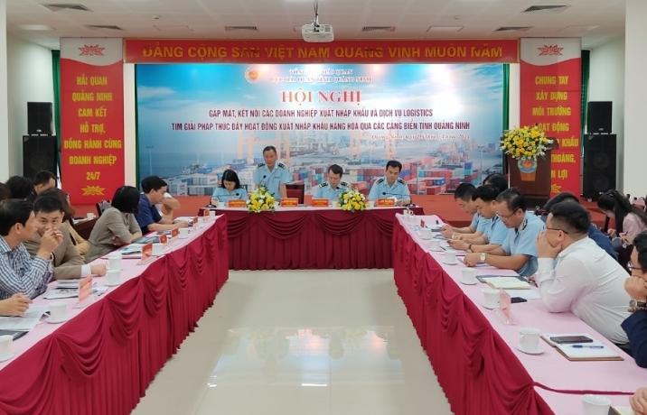 Hải quan Quảng Ninh kết nối, tìm giải pháp thúc đẩy hoạt động xuất nhập khẩu qua cảng biển