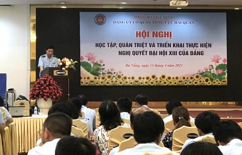 100 đảng viên cơ quan Tổng cục Hải quan tại Đà Nẵng học tập Nghị quyết Đại hội XIII của Đảng
