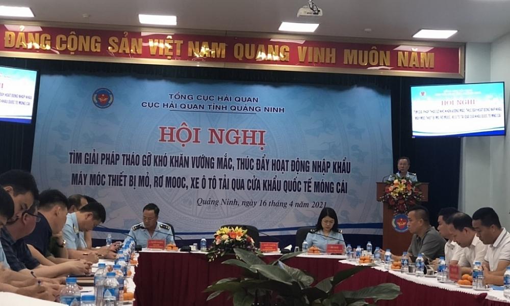 Quang cảnh hội nghị do Cục Hải quan Quảng Ninh tổ chức. Ảnh