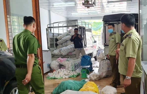 Phát hiện cơ sở kinh doanh không phép, thu giữ hơn 3 tấn thực phẩm
