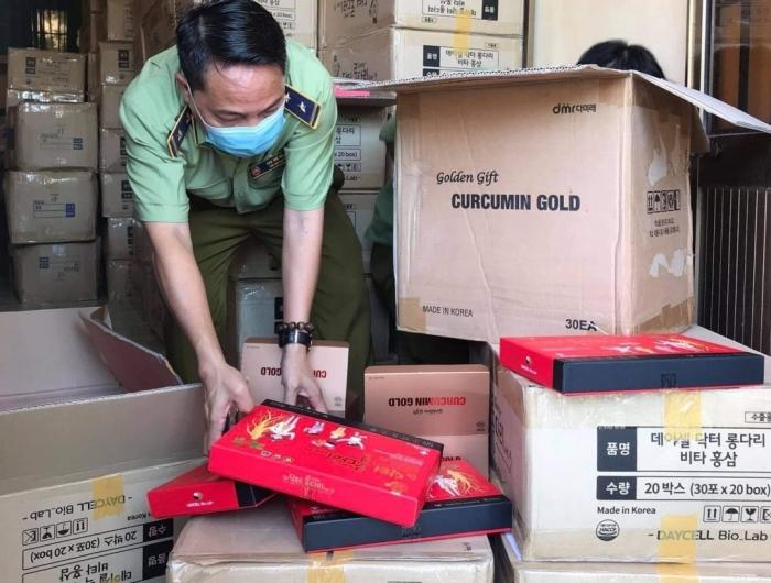 Chặn đứng xe ô tô chở 2.600 hộp thực phẩm chức năng không có chứng từ