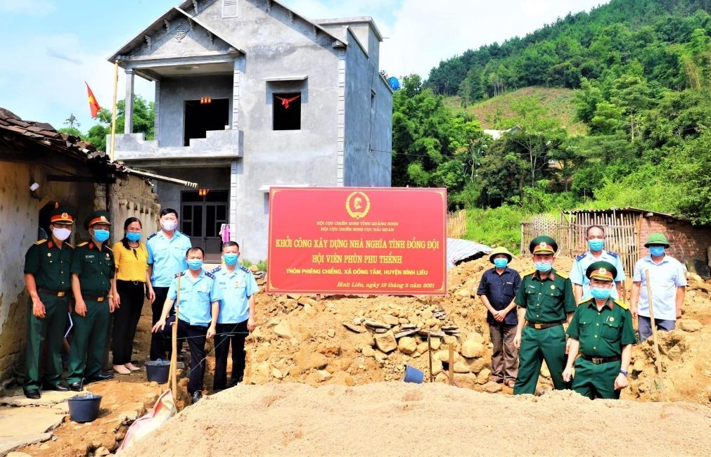 """Cựu chiến binh Hải quan Quảng Ninh ủng hộ xây nhà """"Nghĩa tình đồng đội"""""""