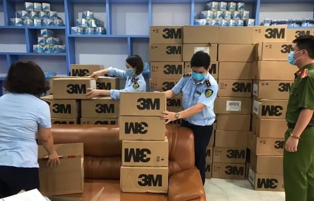 Thu giữ hơn 17.000 khẩu trang có dấu hiệu giả mạo nhãn hiêu 3M