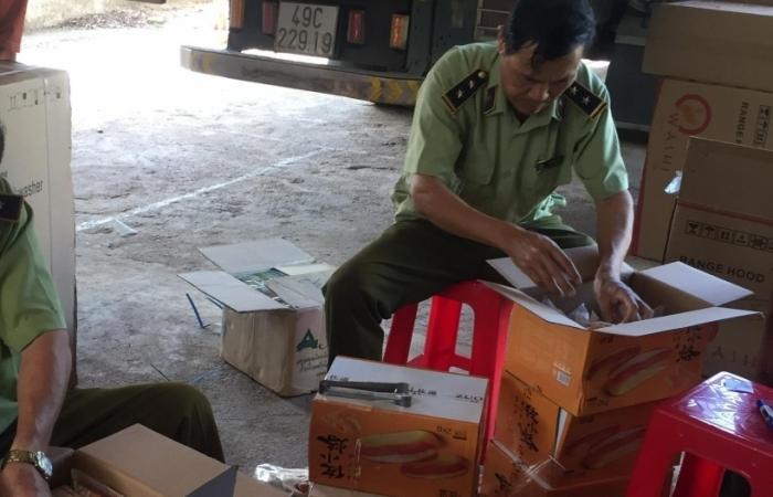 Chặn đứng xe tải chở hơn 3.000 chiếc bánh không rõ nguồn gốc