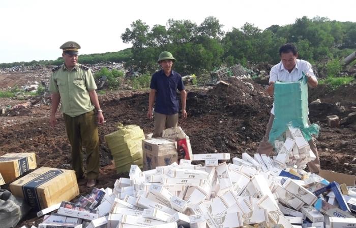 Quảng Trị: Tiêu hủy hơn 250.000 bao thuốc lá lậu