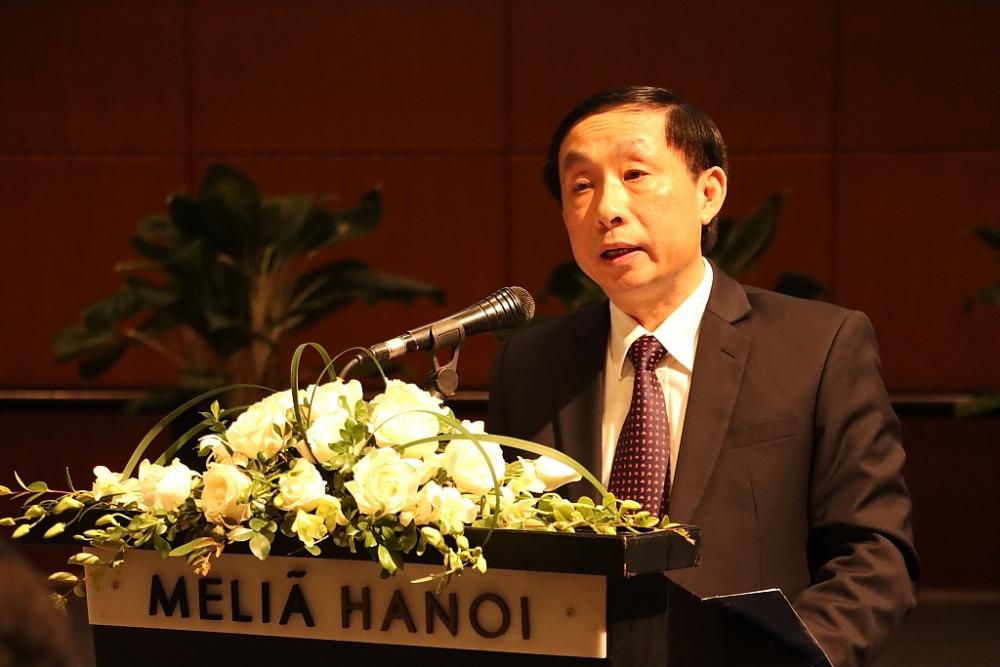 Phó Tổng cục trưởng Tổng cục Hải quan Hoàng Việt Cường phát biểu tại hội thảo. Ảnh: Q.H