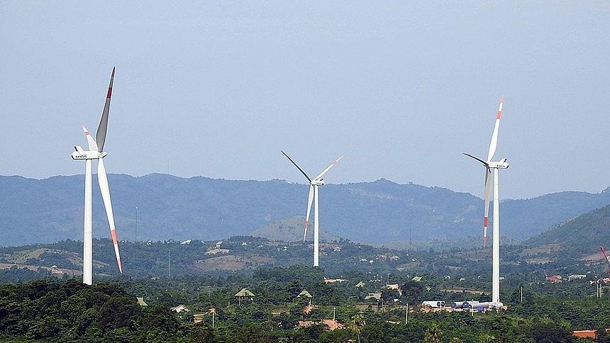Một dự án điện gió tại huyên Hướng Hóa, Quảng Trị.