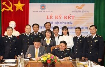 Hải quan Quảng Trị ký kết thỏa thuận hợp tác triển khai dịch vụ bưu chính công ích