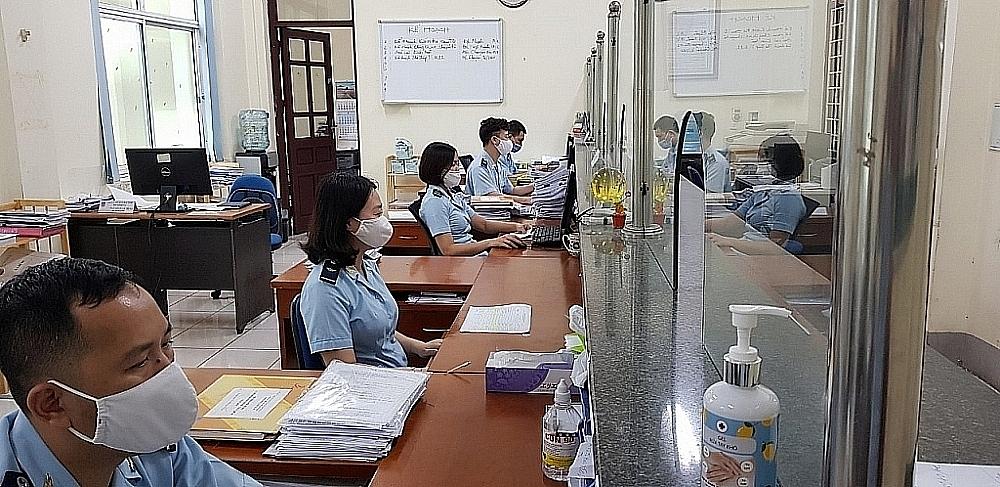 Hoạt động nghiệp vụ tại Chi cục Hải quan Bắc Ninh, Cục Hải quan Bắc Ninh. Ảnh: Q.H