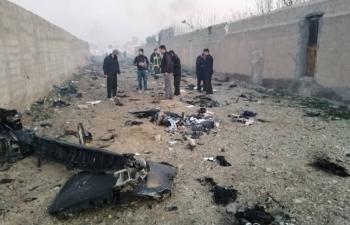 Tất cả 176 người trên máy bay Ukraine rơi ở Iran đã thiệt mạng