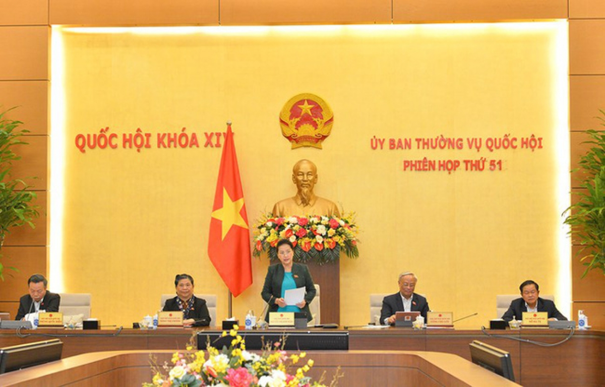 Phiên họp thứ 51 của Ủy ban Thường vụ Quốc hội (Ảnh: Quốc hội)