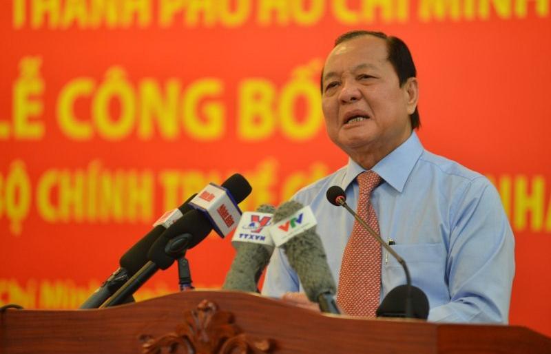 Ông Lê Thanh Hải bị cách chức Bí thư Thành uỷ TP.HCM nhiệm kỳ 2010-2015