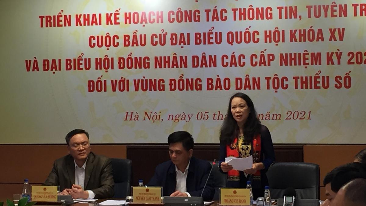 """Hội nghị """"Triển khai Kế hoạch công tác thông tin, tuyên truyền cuộc bầu cử đại biểu Quốc hội khóa XV và đại biểu HĐND các cấp nhiệm kỳ 2021 - 2026 đối với vùng đồng bào dân tộc thiểu số"""""""