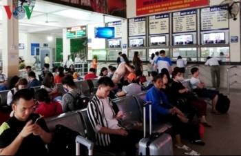 Lượng khách tăng đột biến tại một số bến xe Hà Nội dịp nghỉ Giỗ Tổ