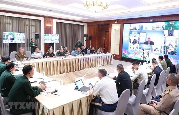 Hội nghị trực tuyến Nhóm quan chức quốc phòng cấp cao ASEAN mở rộng