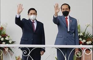 Thủ tướng Phạm Minh Chính chào xã giao Tổng thống Indonesia