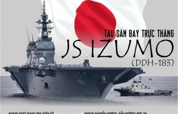 Infographics: JS Izumo - Sức mạnh răn đe của Nhật Bản ở Thái Bình Dương
