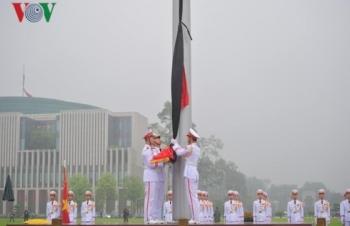 Photos: Cờ rủ Quốc tang nguyên Chủ tịch nước Lê Đức Anh tại Ba Đình