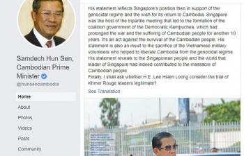 Thủ tướng Hun Sen: Ông Lý Hiển Long xúc phạm sự hy sinh của Việt Nam