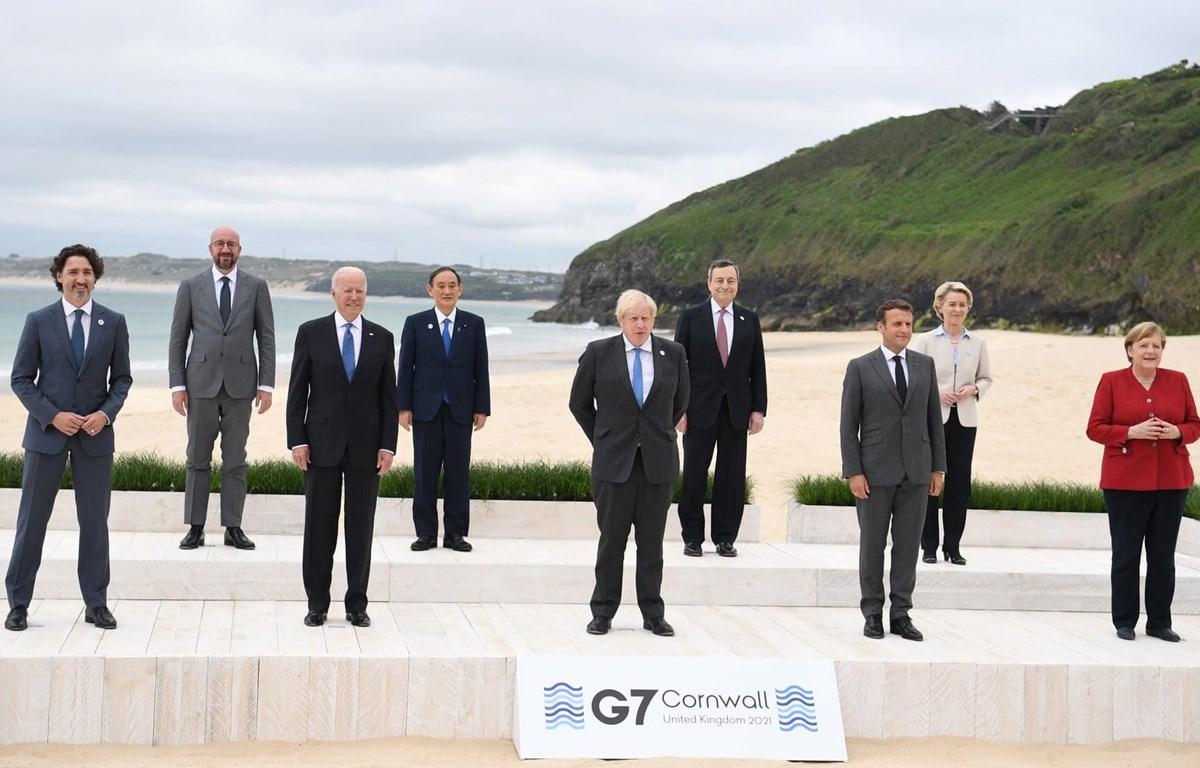 Lãnh đạo các nước dự hội nghị thượng đỉnh G7. (Nguồn: theguardian)