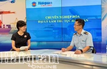 Ông Âu Anh Tuấn, Quyền Cục trưởng Cục GSQL về hải quan trả lời phỏng vấn về đại lý thủ tục hải quan