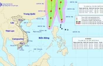 Bão Danas và áp thấp gây rủi ro thiên tai cấp 3 trên Biển Đông