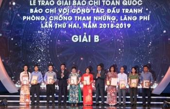 Toàn cảnh lễ trao giải Báo chí Toàn quốc về phòng chống tham nhũng